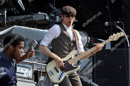 Ty Taylor, Rick Barrio Dill. Ty Taylor and Rick Barrio Dill with Vintage Trouble performs during Music Midtown 2017 at Piedmont Park, in Atlanta
