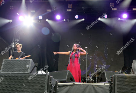 Bibi Bourelly and musicians perform during Music Midtown 2017 at Piedmont Park, in Atlanta