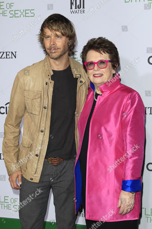 Billie Jean King and Eric Christian Olsen
