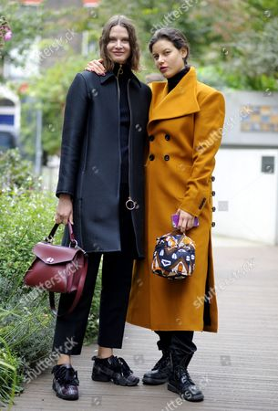 Editorial picture of Street Style, Spring Summer 2018, London Fashion Week, UK - 16 Sep 2017
