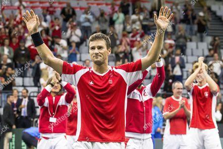 Editorial photo of Tennis Davis Cup - Switzerland vs Belarus, Biel - 17 Sep 2017