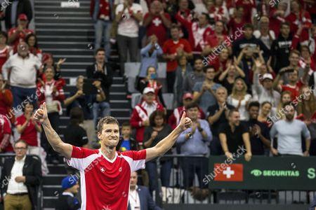 Editorial picture of Tennis Davis Cup - Switzerland vs Belarus, Biel - 17 Sep 2017