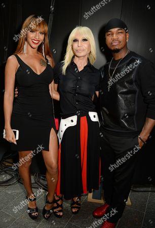 Crystal Renay, Donatella Versace and Ne-Yo