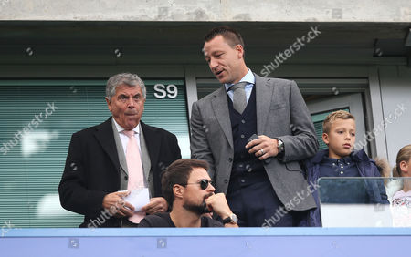 David Dein and John Terry of Aston Villa watches Arsenal v Chelsea from the stands at Stamford Bridge Stadium during Premier League match between Chelsea and Arsenal on the 17th September 2017 at the Stamford Bridge Stadium, London.
