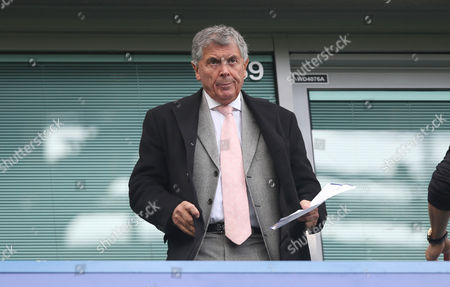 David Dein watches Arsenal v Chelsea from the stands at Stamford Bridge Stadium during Premier League match between Chelsea and Arsenal on the 17th September 2017 at the Stamford Bridge Stadium, London.