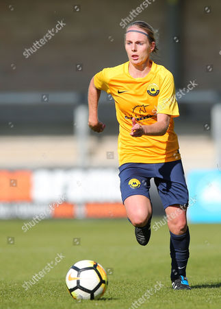 Sarah Smith of Torquay United Ladies on the break during the Women's FA Cup match between Torquay United Ladies and Bournemouth at Plainmoor, Torquay, Devon on September 17