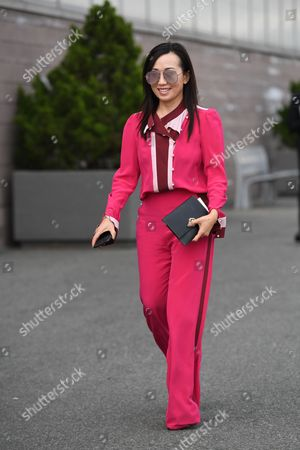 Editorial image of Street Style, Spring Summer 2018, New York Fashion Week, USA - 12 Sep 2017