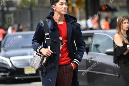 Editorial photo of Street Style, Spring Summer 2018, New York Fashion Week, USA - 12 Sep 2017