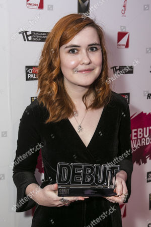 Stock Picture of Katherine Soper accepts the award for Best Writer