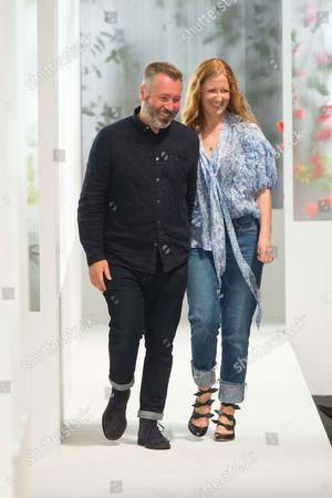 Justin Thornton and Thea Bregazzi on the catwalk