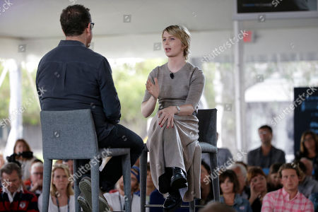 Eugene Jarecki, Chelsea Manning. Chelsea Manning, right, is interviewed by filmmaker Eugene Jarecki, left, during a forum, in Nantucket, Mass. The forum is part of The Nantucket Project's annual gathering on the island of Nantucket. Manning is a former U.S. Army intelligence analyst who spent time in prison for sharing classified documents