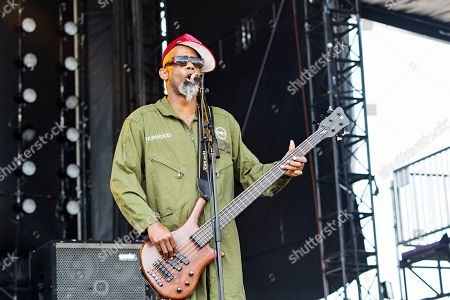 Stock Photo of John Norwood Fisher of Fishbone seen at KAABOO 2017 at the Del Mar Racetrack and Fairgrounds, in San Diego, Calif