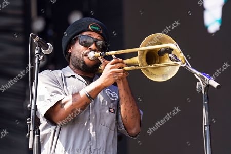Stock Picture of Jay Armant of Fishbone seen at KAABOO 2017 at the Del Mar Racetrack and Fairgrounds, in San Diego, Calif