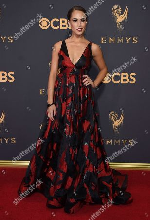 Alex Hudgens arrives at the 69th Primetime Emmy Awards, at the Microsoft Theater in Los Angeles