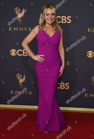 Barbara Alyn Woods arrives at the 69th Primetime Emmy Awards, at the Microsoft Theater in Los Angeles