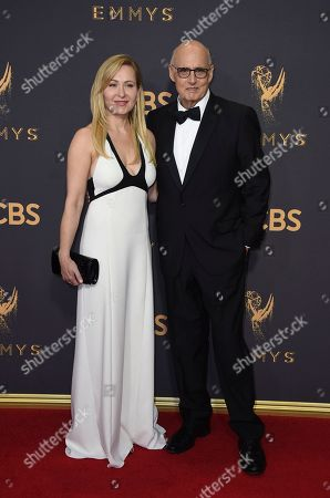 Kasia Ostlun, Jeffrey Tambor. Kasia Ostlun, left, and Jeffrey Tambor arrives at the 69th Primetime Emmy Awards, at the Microsoft Theater in Los Angeles