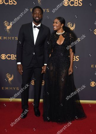 Gabrielle Union, Dwayne Wade. Dwayne Wade, left, and Gabrielle Union arrive at the 69th Primetime Emmy Awards, at the Microsoft Theater in Los Angeles