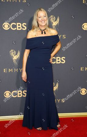 Kate Dennis arrives at the 69th Primetime Emmy Awards, at the Microsoft Theater in Los Angeles