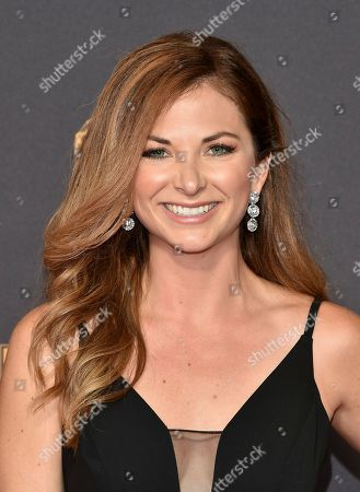 Lauren Zima arrives at the 69th Primetime Emmy Awards, at the Microsoft Theater in Los Angeles