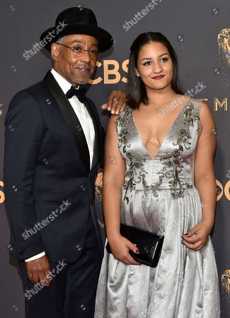 Stock Picture of Giancarlo Esposito, Terry Barone. Giancarlo Esposito, left, and Terry Barone arrives at the 69th Primetime Emmy Awards, at the Microsoft Theater in Los Angeles
