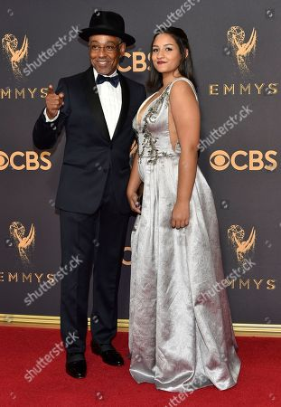 Stock Photo of Giancarlo Esposito, Terry Barone. Giancarlo Esposito, left, and Terry Barone arrives at the 69th Primetime Emmy Awards, at the Microsoft Theater in Los Angeles