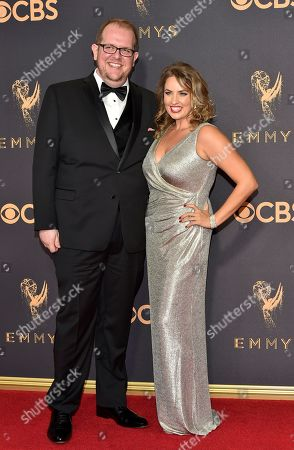 Dominic Burgess, Sara Cravens. Dominic Burgess, left, and Sara Cravens arrive at the 69th Primetime Emmy Awards, at the Microsoft Theater in Los Angeles