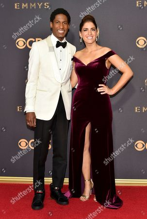 Jon Batiste, Suleika Jaouad. Jon Batiste, left, and Suleika Jaouad arrive at the 69th Primetime Emmy Awards, at the Microsoft Theater in Los Angeles