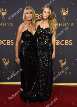 Robin Wright, Dylan Penn. Robin Wright, left, and Dylan Penn arrive at the 69th Primetime Emmy Awards, at the Microsoft Theater in Los Angeles