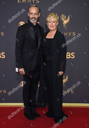 Michel Gill, Jayne Atkinson. Michel Gill, left, and Jayne Atkinson arrive at the 69th Primetime Emmy Awards, at the Microsoft Theater in Los Angeles