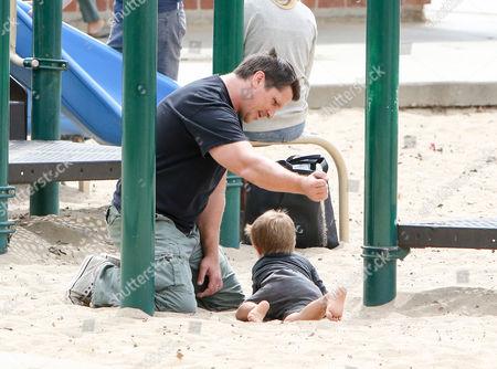 Christian Bale and son Joseph Bale