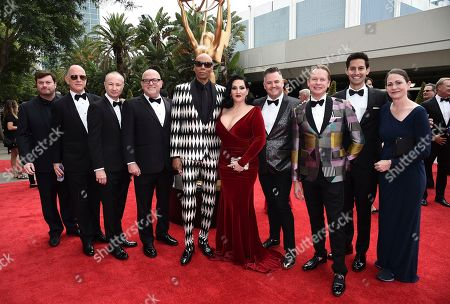 RuPaul, Michelle Visage, Ross Matthews, Carson Kressley. RuPaul, from left, Michelle Visage, Ross Matthews, and Carson Kressley arrive at the 69th Primetime Emmy Awards, at the Microsoft Theater in Los Angeles