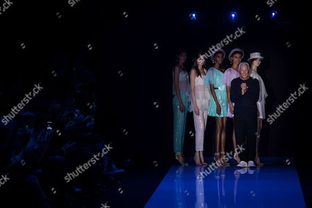 Editorial photo of Britain Fashion Week Emporio Armani, London, United Kingdom - 17 Sep 2017