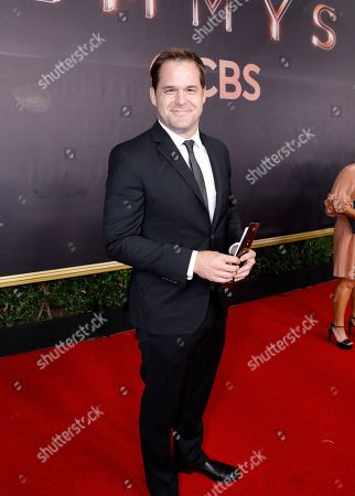 Kyle Bornheimer arrives at the 69th Primetime Emmy Awards, at the Microsoft Theater in Los Angeles
