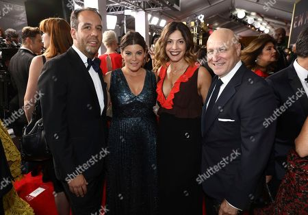 Jeremy Abrams, Gail Simmons, Lori Silverbush, Tom Colicchio. Jeremy Abrams, from left, Gail Simmons, Lori Silverbush, and Tom Colicchio appear at the 69th Primetime Emmy Awards, at the Microsoft Theater in Los Angeles