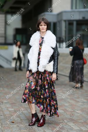 Editorial picture of Street Style, Spring Summer 2018, London Fashion Week, UK - 17 Sep 2017