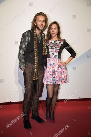 Stock Image of Marion Huguenin and Jean-Baptiste Sagory attend the closing ceremony during the 19th Festival of the TV Fiction in the Rochelle