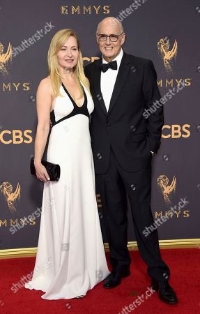 Kasia Ostlun, Jeffrey Tambor. Kasia Ostlun, left, and Jeffrey Tambor arrive at the 69th Primetime Emmy Awards, at the Microsoft Theater in Los Angeles