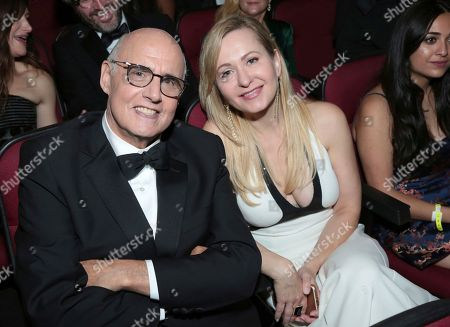 Jeffrey Tambor, Kasia Ostlun. Jeffrey Tambor, left, and Kasia Ostlun pose in the audience at the 69th Primetime Emmy Awards, at the Microsoft Theater in Los Angeles