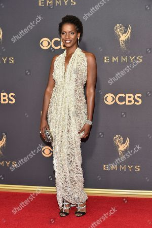 Kelsey Scott arrives at the 69th Primetime Emmy Awards, at the Microsoft Theater in Los Angeles