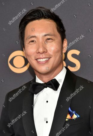 Kelvin Yu arrives at the 69th Primetime Emmy Awards, at the Microsoft Theater in Los Angeles