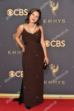 Stock Image of Monica Beletsky arrives at the 69th Primetime Emmy Awards, at the Microsoft Theater in Los Angeles