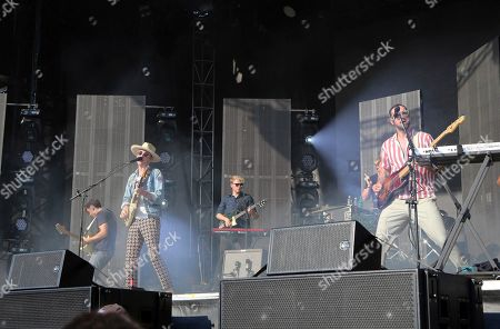 Alex Trimble, Kevin Baird, Sam Halliday. Alex Trimble, Kevin Baird and Sam Halliday with Two Door Cinema Club performs during Music Midtown 2017 at Piedmont Park, in Atlanta