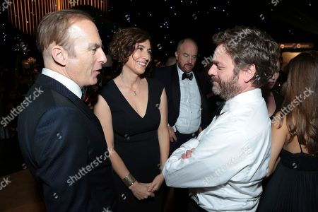 Bob Odenkirk, Naomi Odenkirk, Zach Galifianakis, Louis C.K. Bob Odenkirk, from left, Naomi Odenkirk, Louis C.K. and Zach Galifianakis attend the Governors Ball for the 69th Primetime Emmy Awards at the Los Angeles Convention Center, in Los Angeles