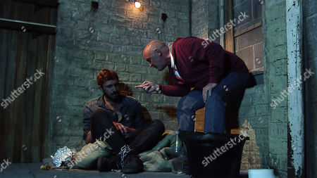 Ep 9260 Wednesday 27th September 2017 - 2nd Ep Andy Carver, as played by Oliver Farnworth, concocts a scheme whereby Phelan, as played by Connor McIntyre, will free him from the cellar but be guaranteed of his silence when Andy commits a crime of his own. Phelan's shocked as Andy argues he then couldn't grass up Phelan to the police without implicating himself.
