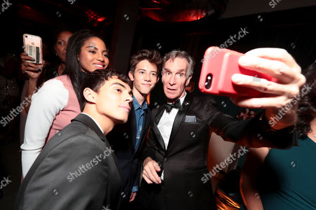 Tyler Alvarez, Camille Hyde, Griffin Gluck and Bill Nye seen at Netflix Primetime Emmys Party at NeueHouse in Los Angeles, CA on September 17, 2017