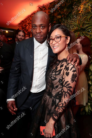 Dave Chappelle and Lisa Nishimura, Netflix Vice President of Original Documentary and Comedy, seen at Netflix Primetime Emmys Party at NeueHouse in Los Angeles, CA on September 17, 2017