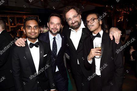 Stock Image of Aziz Ansari, Nick Kroll, Eric Wareheim and Aniz Ansari