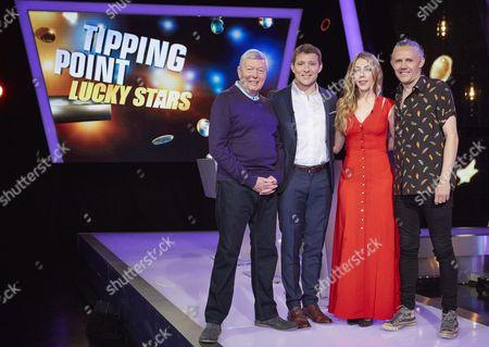 (Sunday 1st October 2017) - (l-r) Alan Johnson host Ben Shephard, Katherine Ryan and Jimmy Bullard