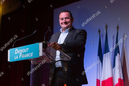 Stock Picture of Jean-Frederic Poisson and Nicolas Dupont-Aignan