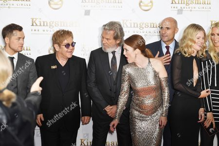Taron Egerton, Elton John, Jeff Bridges, Julianne Moore, Mark Strong, Hanna Alstrom, Claudia Schiffer